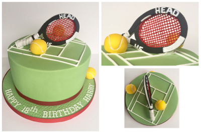 Tennis Birthday Cake