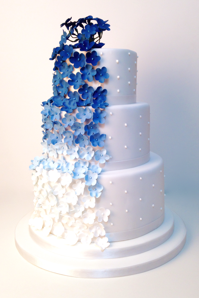 blue flower wedding cake weddings flossie pops cakery 11984