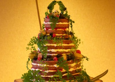 Naked botanicals wedding cake