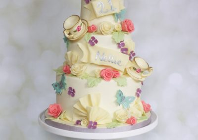 Chocolate Vintage Tea Party Cake
