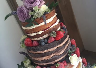 Naked cake mixed flavours